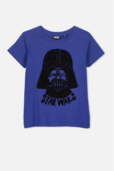 Short Sleeve License Tee, INK BLUE/STAR WARS HEADS
