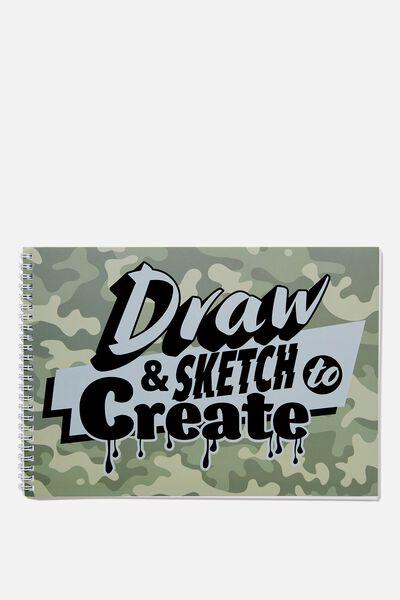 Sunny Buddy A4 Sketch Book, SKETCH TO CREATE
