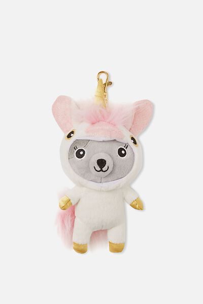 Sunny Buddy Dress Up Soft Keyring, AVA UNICORN