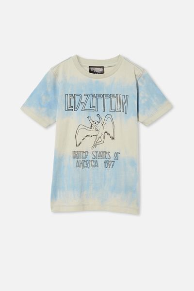 Co-Lab Short Sleeve Tee, LCN LED DUSTY BLUE / WINTER GREY TIE DYE LED