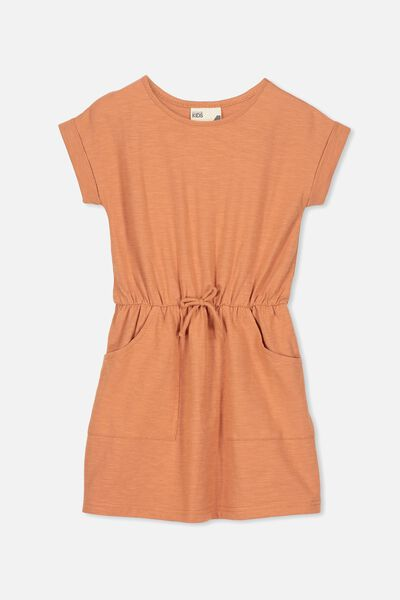 Sibella Short Sleeve Dress, SPICE