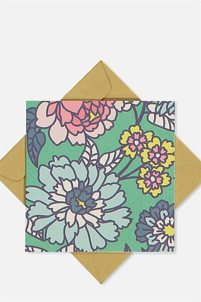 Gift Cards, GREEN FLORAL