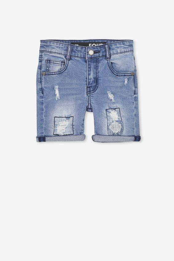 Bay Dnm Short, MID BLUE WASH
