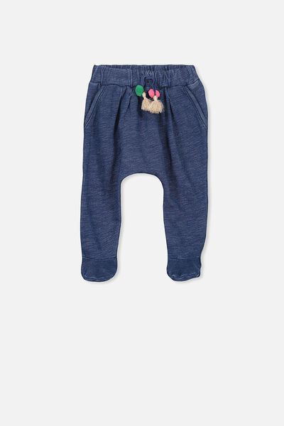 Alison Mini Footed Pant, DARK INDIGO WASH