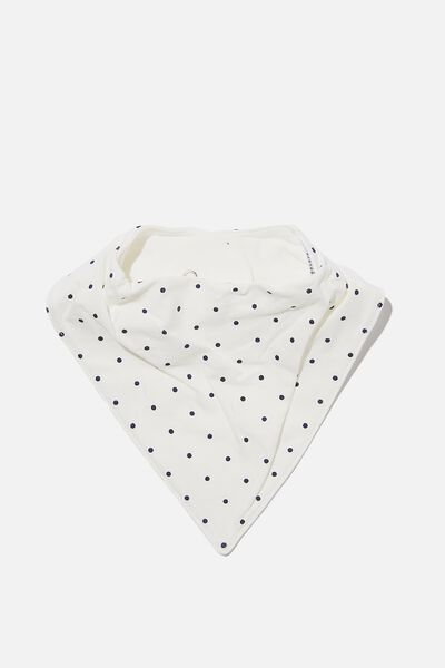 The Bandana Bib, JOY SPOT VANILLA/NAVY BLAZER