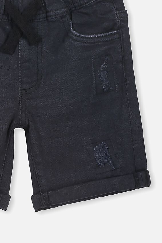Flex Dnm Short, WASHED BLACK
