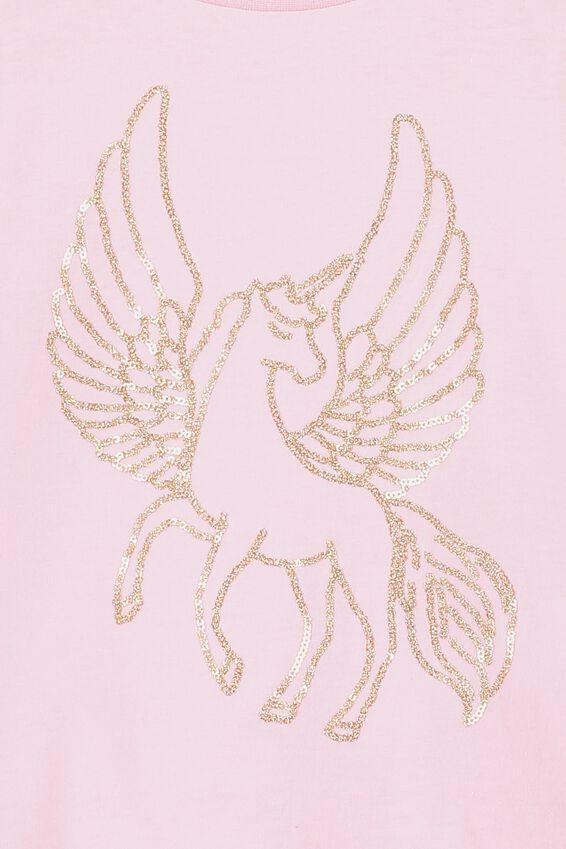 Stevie Ls Embellished Tee, MARSHMALLOW/GOLD PEGASUS