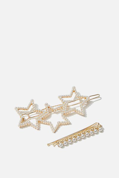Hair Clips, S PEARLY STARS
