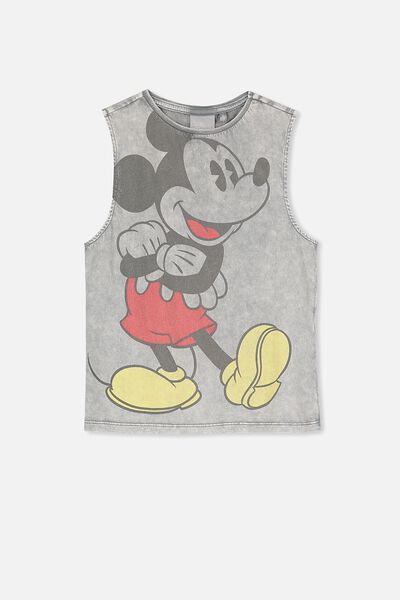 License Muscle Tank, GREY WASH/HOT DIGGITY DOG
