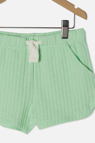 Gianna Knit Short, WASHED SPEARMINT RIB