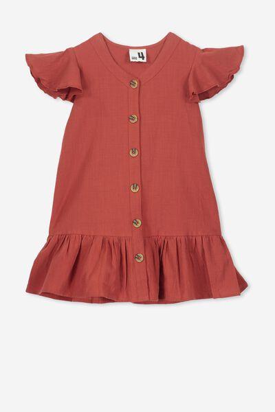 Lola Short Sleeve Dress, TANDOORI SPICE