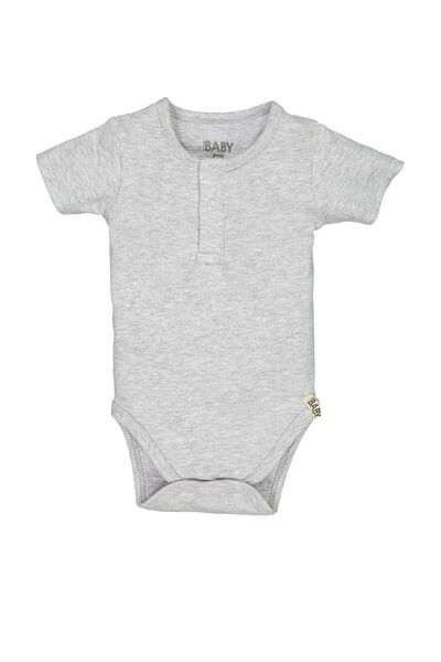 Mini Ss Henley Style Bubbysuit, CLOUD MARLE