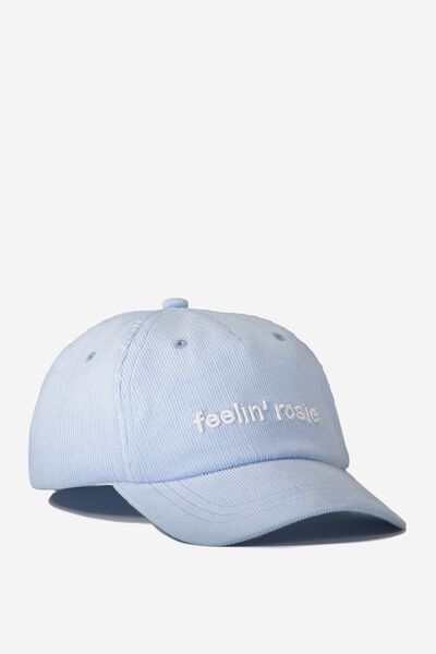 Baseball Cap - Dog, HEATHER/CORDUROY
