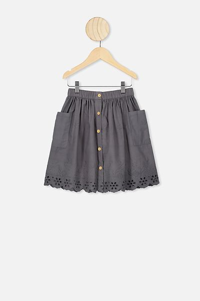 Joanie Skirt, RABBIT GREY BRODERIE