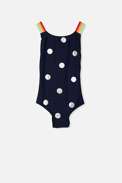 Florence One Piece, PEACOAT SPOTS/RAINBOW STRIPE