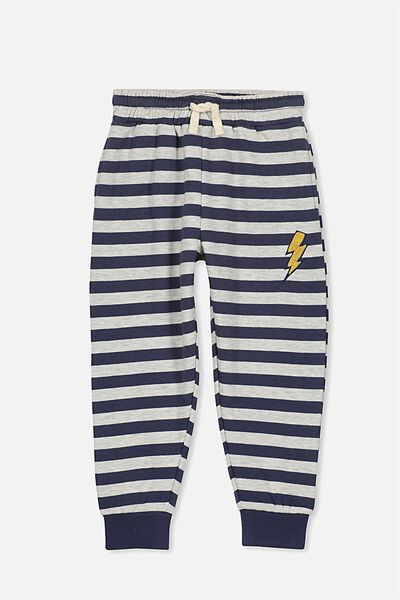 Lewis Trackpant, NAVY/OATMEAL YDS BADGE