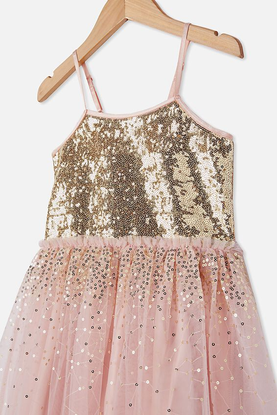Iris Dress Up Dress, DUSTY PINK/GOLD GRADIENT