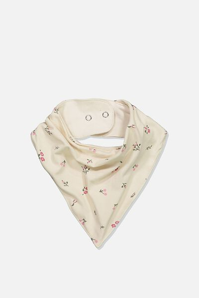 The Kerchief Bib, DARK VANILLA/FLORAL FIELDS