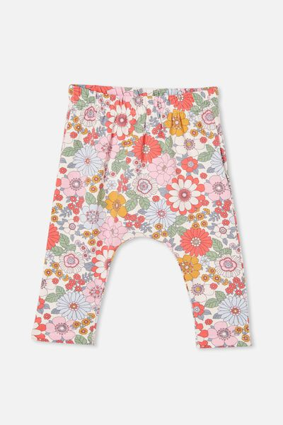The Legging, VANILLA/CALI PINK RETRO FLORAL