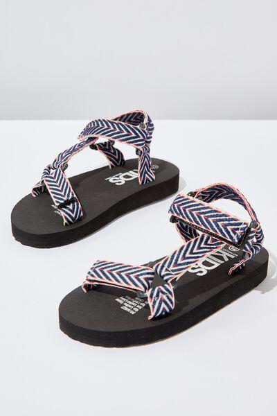 Charlie Woven Strap Sandal, MULTI