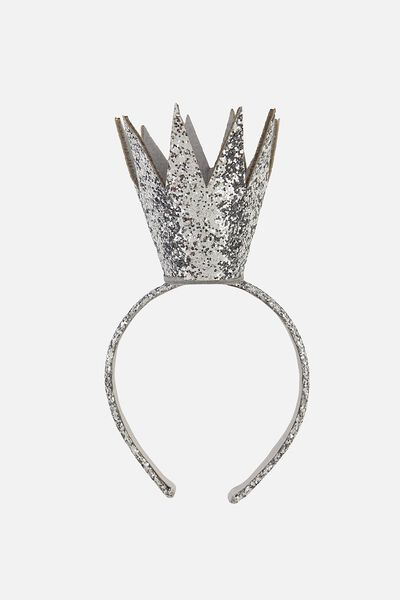 Queenie Crown, SILVER GLITTER