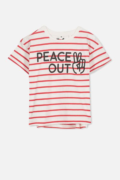 Max Short Sleeve Tee, PEACE OUT STRIPE/DS