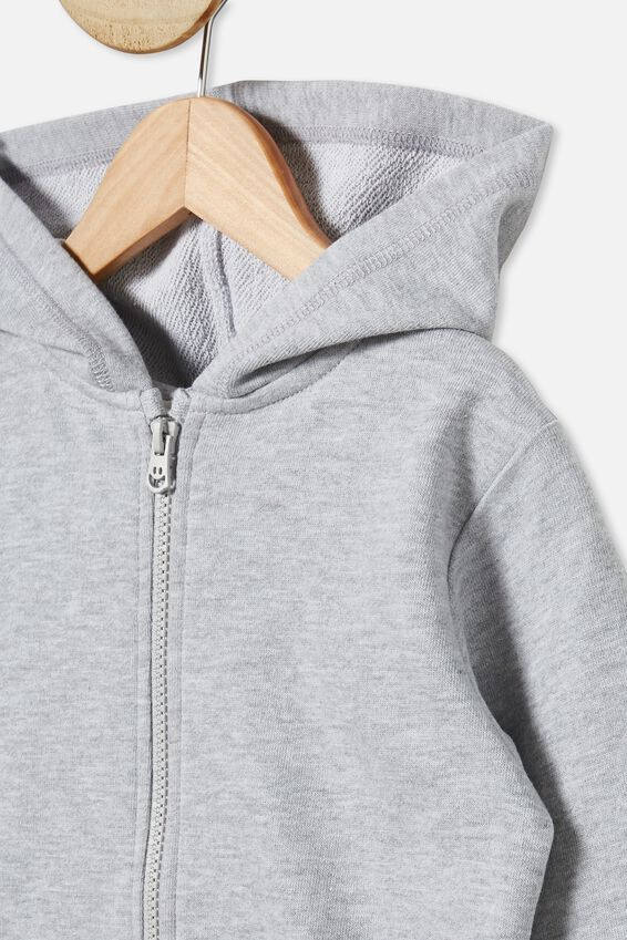 Sunny Zip Through Hoodie, LIGHT GREY MARLE