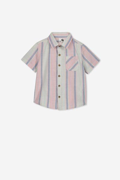 Resort Short Sleeve Shirt, SUMMER VERTICAL STRIPE