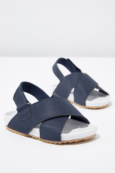 Mini Sling Back Sandal, NAVY