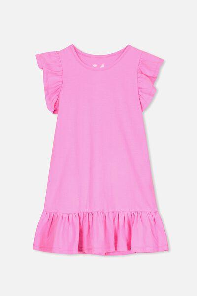 Ella Short Sleeve Dress, ELECTRIC PINK