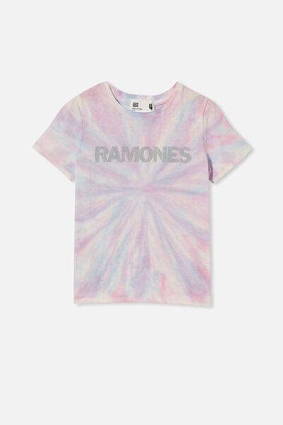License Short Sleeve Tee, LCN MT RAMONES/RAINBOW TIE DYE