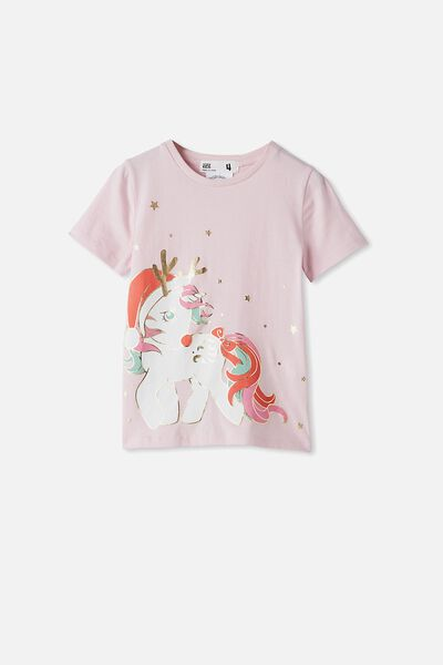 License Short Sleeve Tee, LCN HAS PINK QUARTZ/MY LITTLE PONY RUDOLPH