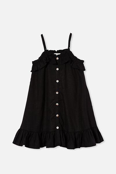 Libby Sleeveless Dress, BLACK
