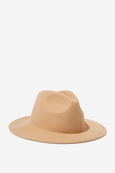 Wide Brim Hat, WASHED STONE