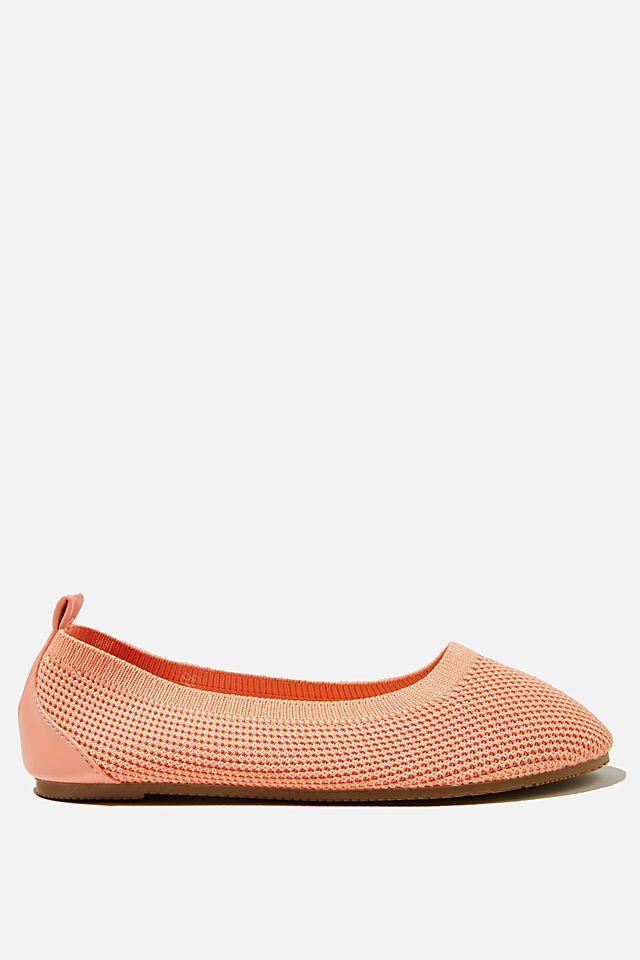 Knitted Ballet Flat, MUSK MELON