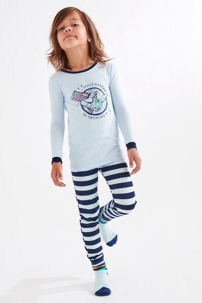 Ethan Long Sleeve Pyjama Set, LCN DIS BUZZ SPACE RANGER FROSTY BLUE