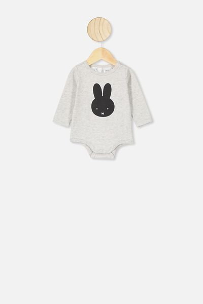 The Long Sleeve Bubbysuit, LCN MIF CLOUD MARLE/MIFFY