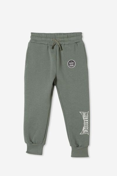 License Slouch Trackpant, LCN PRO SWAG GREEN / METALLICA GLOW