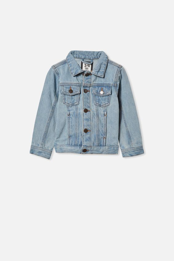 Toddler Baby Boys Girls Denim Jacket Kids Button Jeans Jacket Top Coat Outerwear