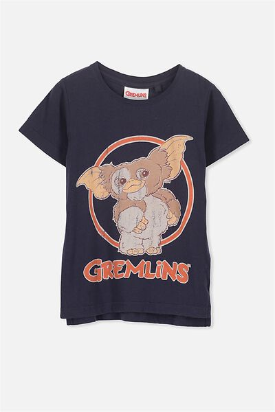 Short Sleeve License Tee, NAVY/GREMLINS