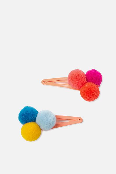 Fashion Hair Clips, POM POM/BANG BANG
