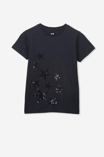 Stevie Ss Embellished Tee, PHANTOM/PHANTOM STARS/MAX