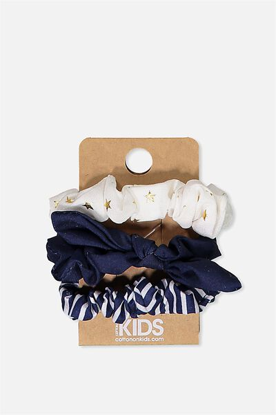 Mini Scrunchie, PEACOAT/GOLD