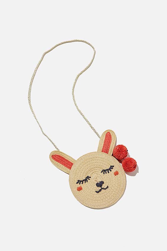 Raffia Bunny Jayme Critter Bag, RAFFIA BUNNY