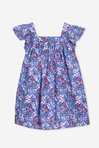 Polly Dress, FRENCH BLUE/DITSY FLORAL