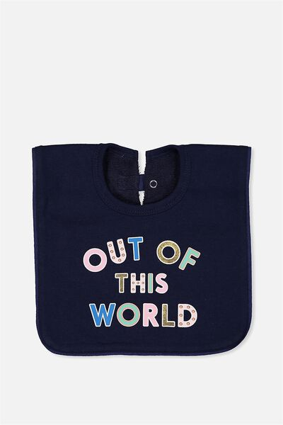 Hansel And Gretel Babies Bib, PEACOAT/OUT OF THIS WORLD