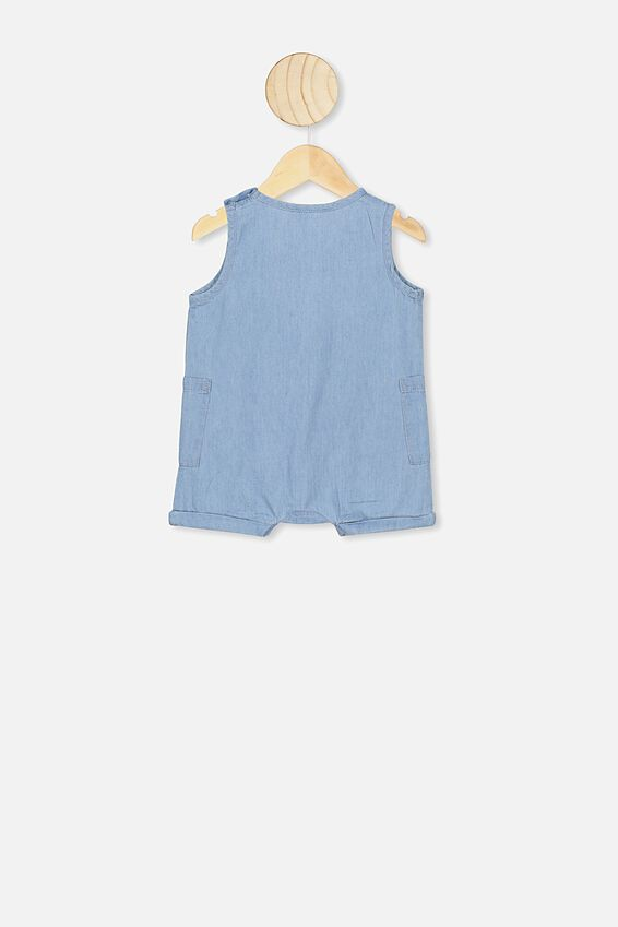 Tommy Romper, CHAMBRAY