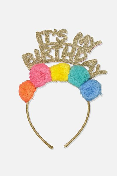 Novelty Headband, NEW BIRTHDAY GIRL