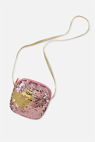 Sequin Party Bag, PINK/HEART