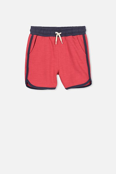 Henry Slouch Short, RIVER RED/WASHED NAVY BIND